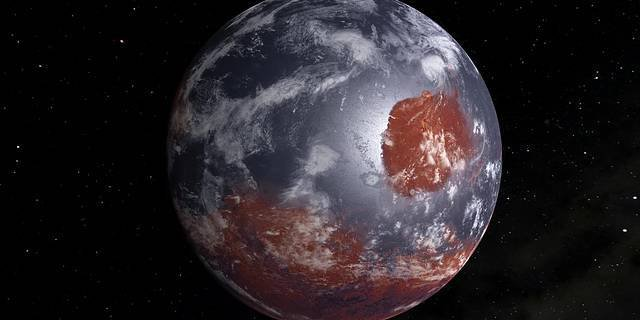 Artist impression of a terraformed Mars.