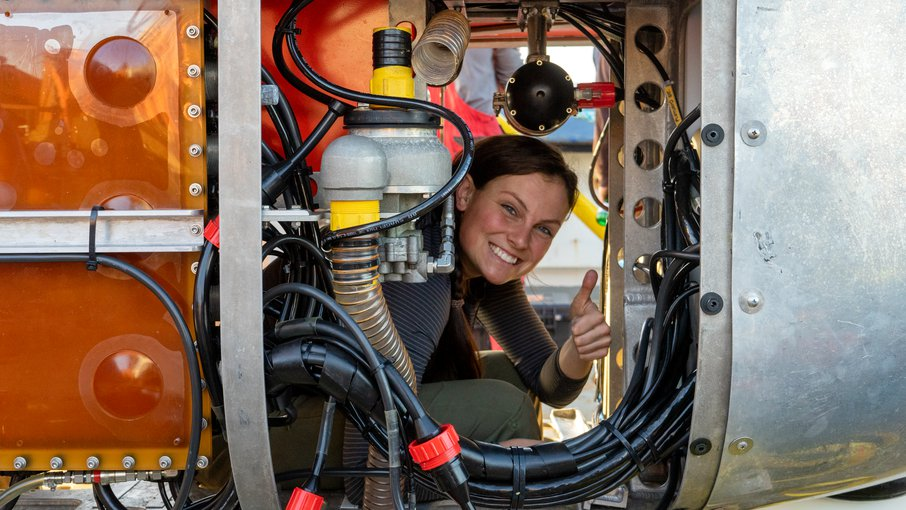 Molly Curran, WHOI engineer and one of the team members responsible for keeping NUI operational.