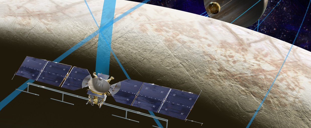 Artist's illustration of NASA's Europa Clipper spacecraft, which will perform multiple flybys of the ocean-harboring Jupiter moon.