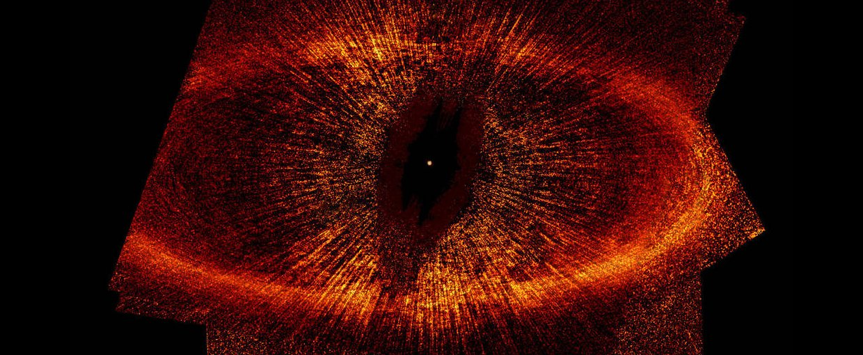 Produced by NASA's Hubble Space Telescope, this is the most detailed visible-light image ever taken of a narrow, dusty ring around the nearby star, Fomalhaut, and offers the strongest evidence yet that an unruly and unseen planet may be gravitationally tu