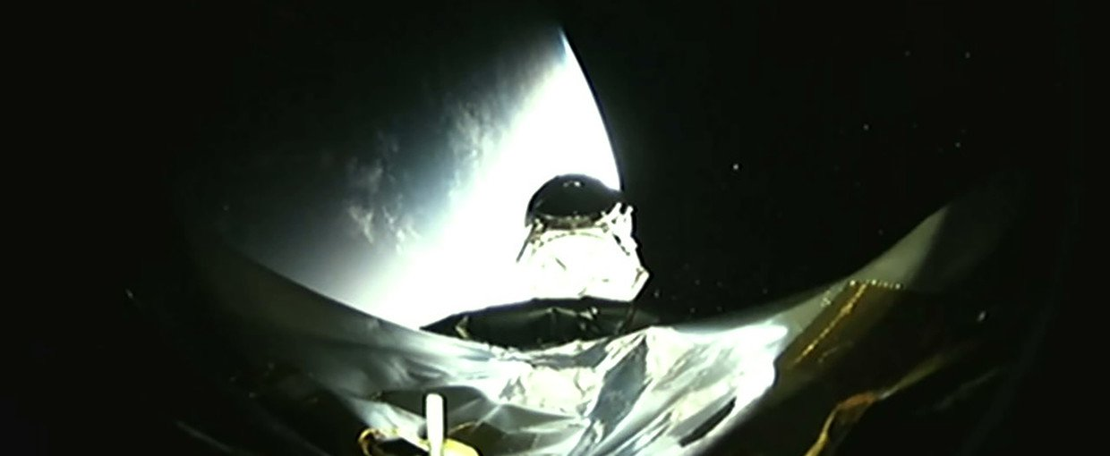 A camera on the SpaceX Falcon 9 booster captured the moment of separation as NASA's Transiting Exoplanet Survey Satellite (TESS) begins its mission.