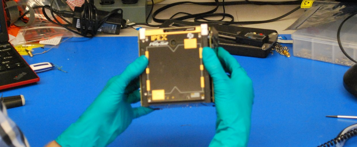 IPEX, a CubeSat only 10x10x10 centimeters.