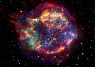 One of the the last supernovae known to have exploded in our Milky Way Galaxy was the star that left behind the Cassiopeia A supernova remnant over 300 years ago, which is 11,000 light years away – much too far to have affected Earth.