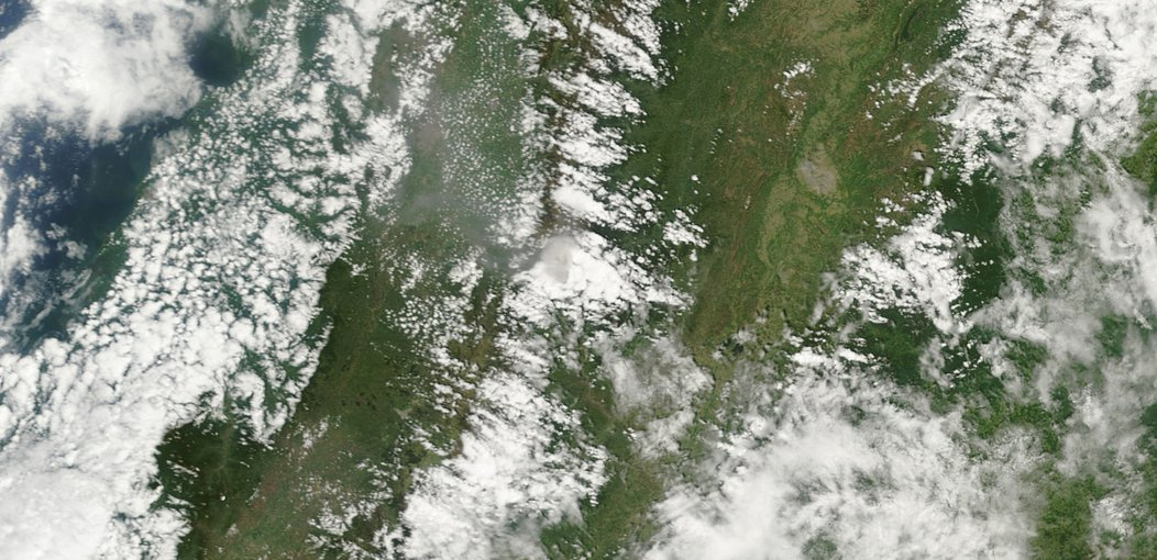 The RSHS in development would be applicable for remote sensing observations of a range of diffuse emissions. This image shows ash from Nevado del Huila, a 5,365-meter (17,600-foot) stratovolcano in the Colombian Andes.