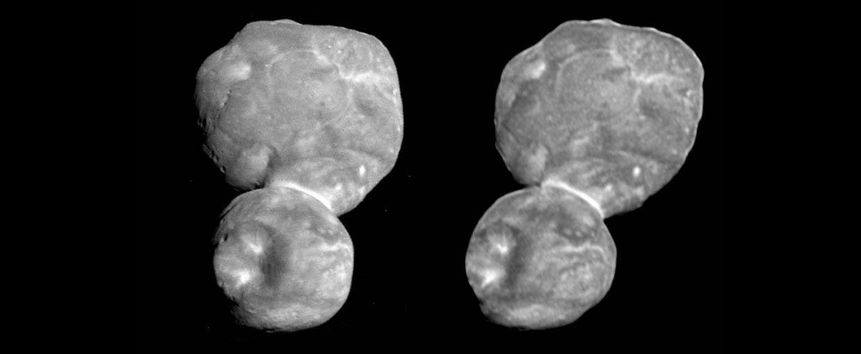 "Parallel: For this view, change your focus from the image by looking ""through"" Ultima Thule (and the screen) and into the distance. This will create the effect of a third image in the middle; try setting your focus on that third image."