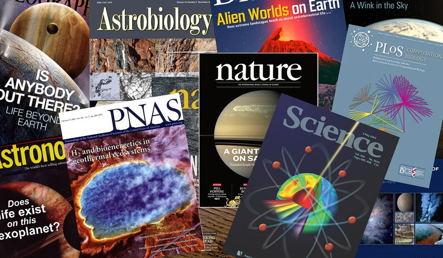 "NASA-funded Astrobiologists are widely published. Browse our <a href=""https://astrobiology.nasa.gov/research/publications/"" target=""_blank"">publication list</a> for the latest articles."