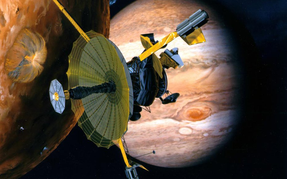 Artist impression of the Galileo mission.