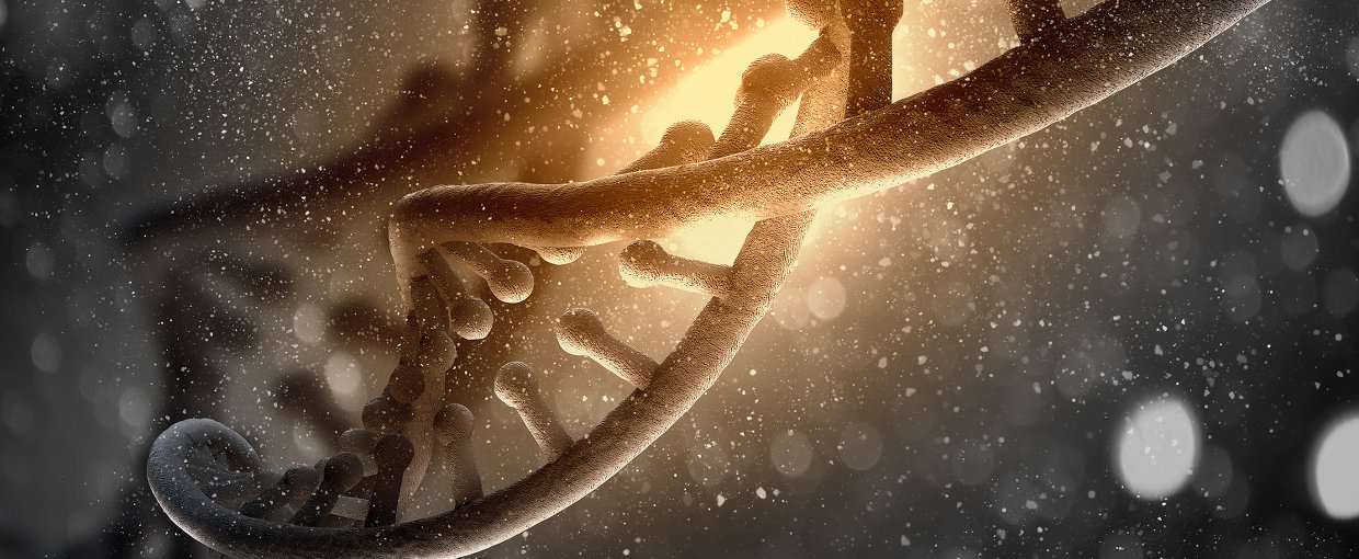 Artist impression of a strand of DNA.