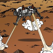 Closeup of a Viking lander from Astrobiology: The Story of our Search for Life in the Universe. Credit: NASA Astrobiology Program