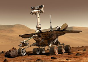 Artist impression of the Opportunity rover, one of NASA twin Mars Exploration Rovers.