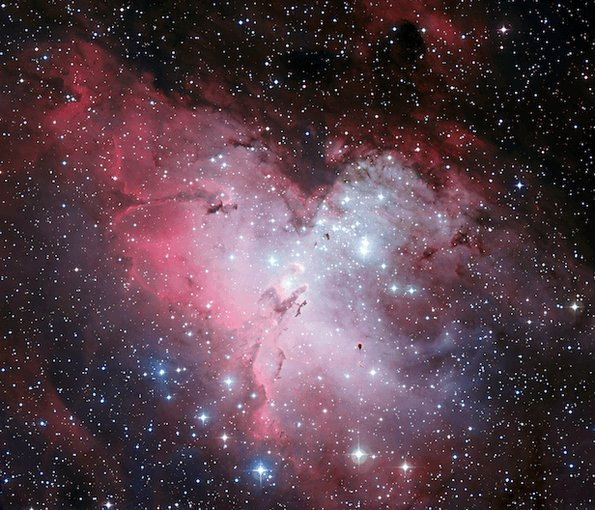 The Eagle nebula is an intense region of star formation, an emergent phenomenon that clearly creates something novel out of simpler parts.