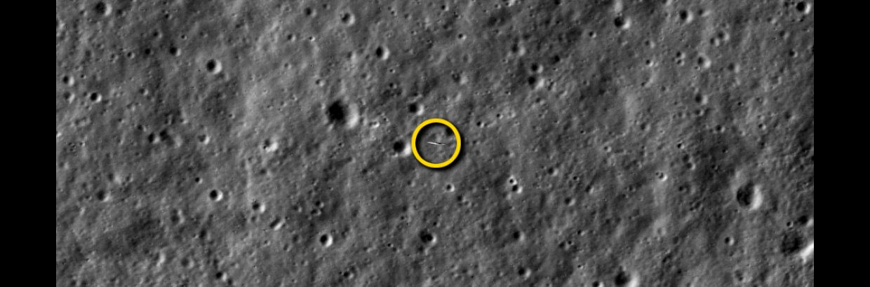NASA's LRO Snaps a Picture of NASA's LADEE Spacecraft (Labeled). With precise timing, the camera aboard NASA's Lunar Reconnaissance Orbiter (LRO) was able to take a picture of NASA's Lunar Atmosphere and Dust Environment Explorer (LADEE) spacecraft as it