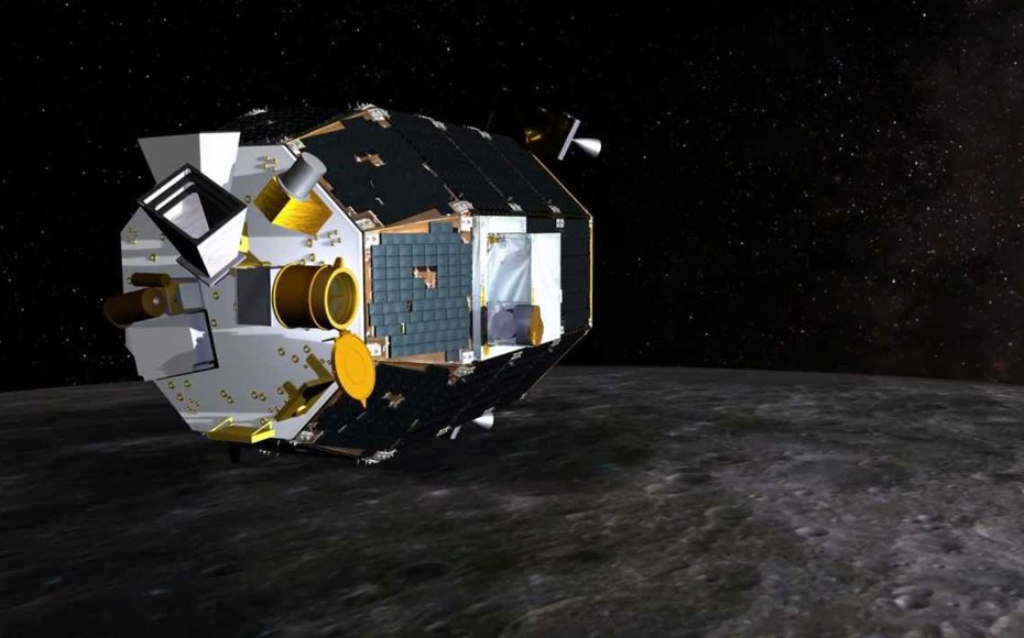 Artist impression of the LADEE spacecraft above the lunar surface.