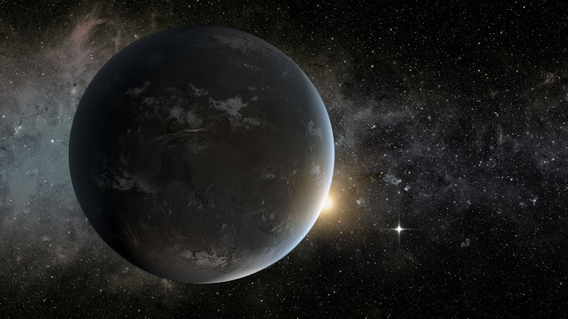 Artist's concept of Kepler-62f, a super-Earth. Scientists are trying to understand the origin of life and generalize the results to other potentially habitable planets in the Universe.