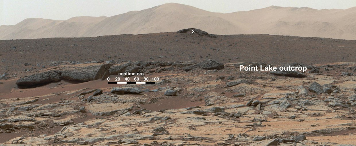 Yellowknife Bay on Mars, where the rover Curiosity first found conditions that were habitable to life. The rover subsequently found many more habitable spots, but no existing or fossil life so far.