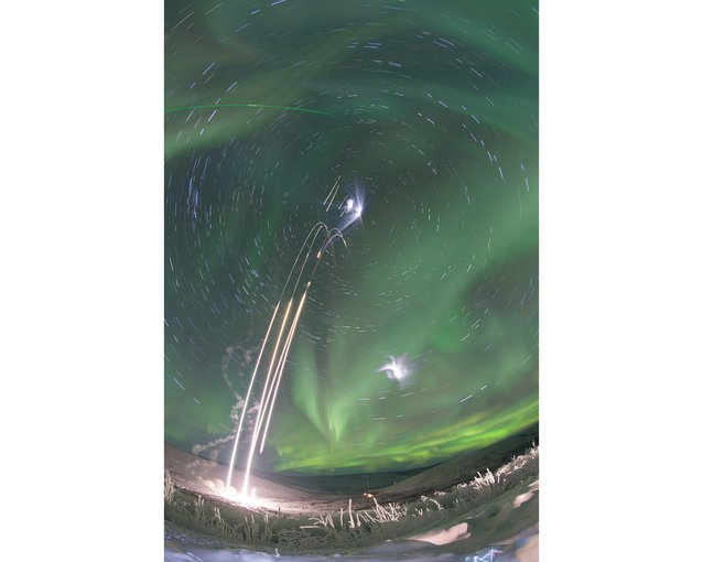 To study auroras, NASA suborbital sounding rockets launch from the Poker Flat Research Range in Alaska carrying the Mesosphere-Lower Thermosphere Turbulence Experiment (M-TeX) and Mesospheric Inversion-layer Stratified Turbulence (MIST).