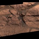 "Rover scientists found signs of water in the first rocks they encountered by Opportunity on Mars. This outcrop, nicknamed ""El Capitan,"" exhibited physical features and minerals pointing to a watery past."