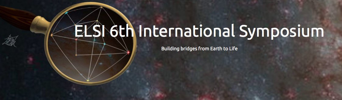 The Earth-Life Science Institute (ELSI) 6th International Symposium: Building Bridges from Earth to Life: From Chemical Mechanism to Ancient Biology.