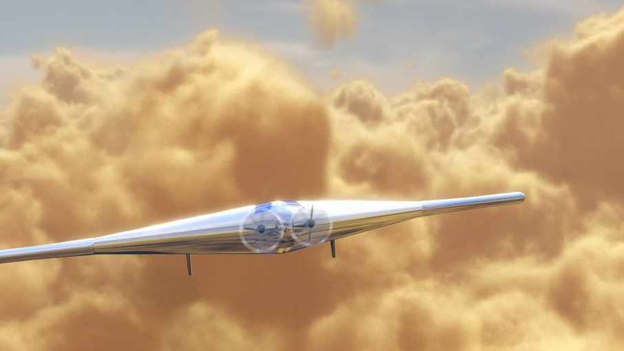 An artist's impression of the VAMP UAV flying through Venus' clouds. Image: Northrop Grumman