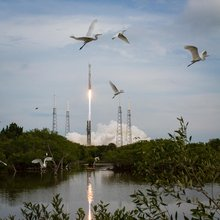 The United Launch Alliance Atlas V rocket with NASA's Mars Atmosphere and Volatile EvolutioN (MAVEN) spacecraft launches from the Cape Canaveral.
