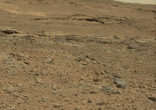 Curiosity tweeted this image from the surface of Mars on Sept 2, 2014.