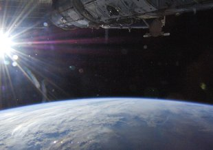 Earth as seen from the International Space Station.