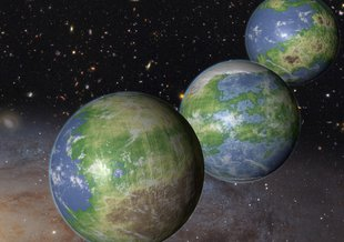 Core Program: Emerging Worlds. This is an artist's impression of innumerable Earth-like planets that have yet to be born.