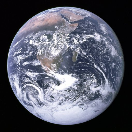 The Earth as seen from Apollo.