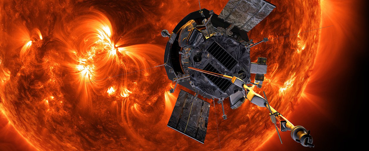 Illustration of NASA's Parker Solar Probe approaching the Sun.