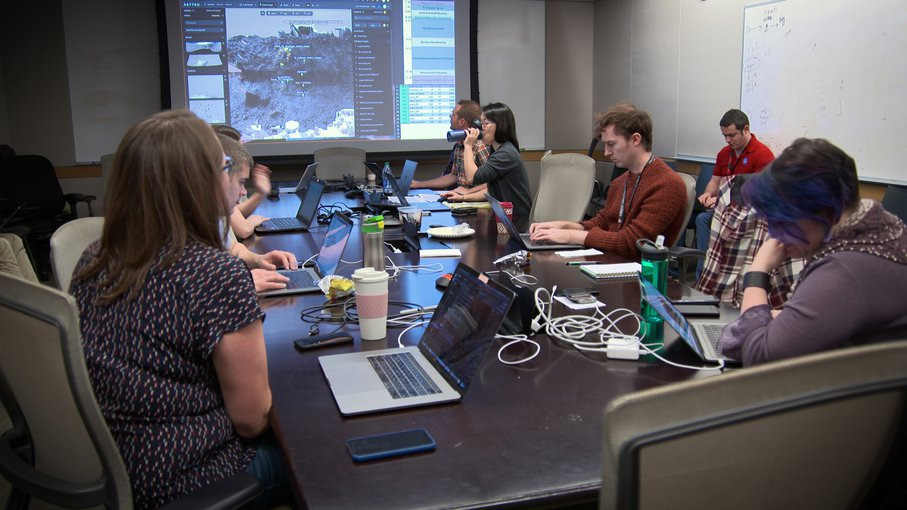 Scientists Training for Mars Rover Operations: Scientists at NASA's Jet Propulsion Laboratory participate in a training exercise in February 2020.