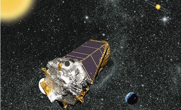 Kepler Space Telescope collected data on planet transits around distant stars for four years, and the information has provided  — and will continue providing —  a goldmine for planet hunters.  A severe malfunction in 2013 had robbed Kepler of its ability to stay pointed at a target without drifting off course, but the spacecraft was stabilized and readjusted to observe a different set of stars. Credit: NASA