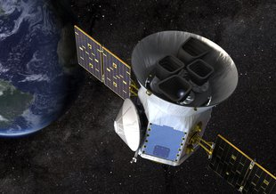 Artist impression of the TESS spacecraft.