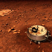 Artist impression of the Huygens probe on the surface of Titan. Credit: NASA/ESA