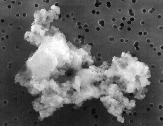 Interplanetary Dust Particle (IDP) collected by NASA's Stardust spacecraft.