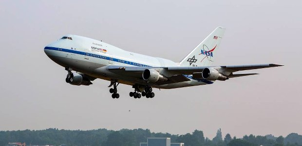 SOFIA arrives in Germany for major maintenance. Credit: DLR