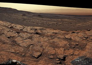 This panorama, made up of 122 individual images stitched together, was taken by NASA's Curiosity Mars rover on November 18, 2020, the 2,946th Martian day, or sol, of the mission.
