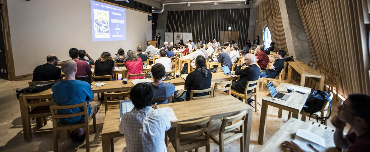 A group of scientists, historians and philosophers are gathered at the Earth-Life Science Institute in Tokyo, Japan to discuss the puzzling evolution of origin studies.. Credit: Nerissa Escanlar