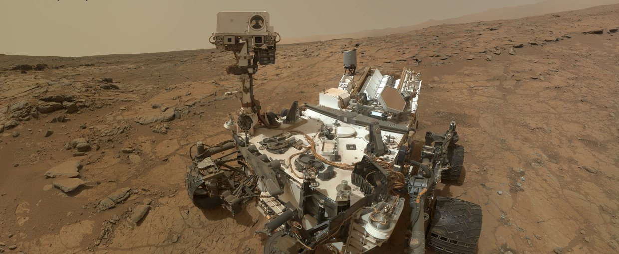 Curiosity Rover's Self Portrait at 'John Klein' Drilling Site.