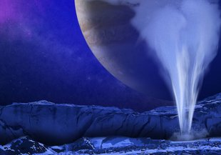 This illustration shows NASA's Europa mission spacecraft, which is being developed for a launch sometime in the 2020s.
