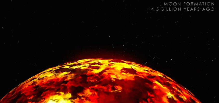 What the Moon may have looked like with an early magma ocean.