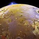 A NASA spacecraft sees a volcanic explosion on Jupiter's third-largest moon.