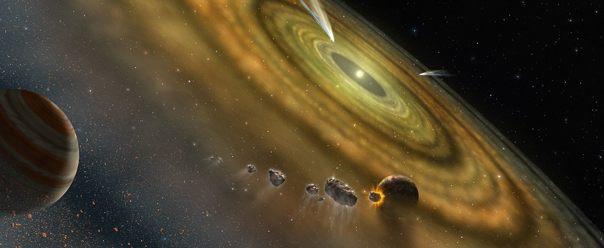 The existence of exocomets around older stars may indicate the presence of unseen gas giant outer planets.