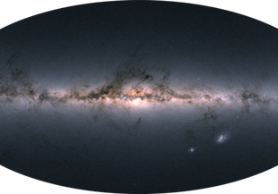 Gaia's all-sky view of our Milky Way and neighboring galaxies.