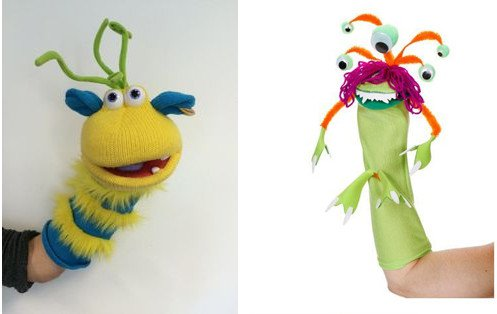 "Examples from Lesson 2 of <em>Life…Out of This World?</em>, ""ET Puppets."""