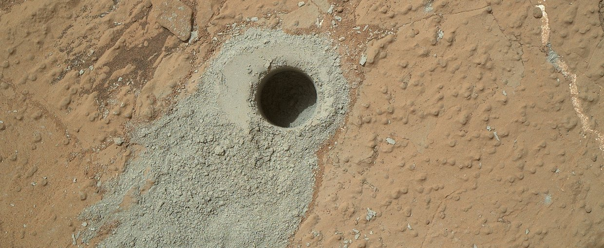 'Cumberland' Target Drilled by Curiosity.