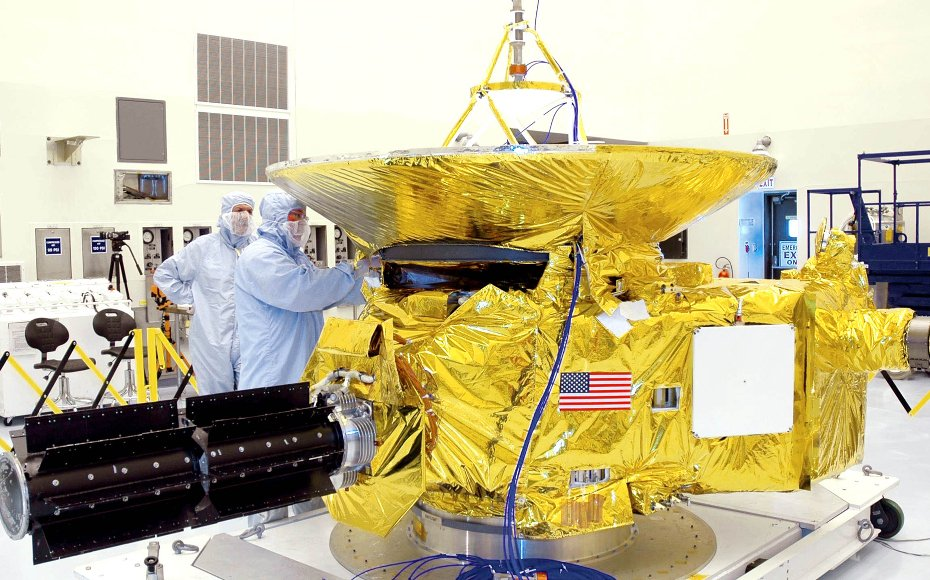 New Horizons carries seven scientific instruments and weighs 1,060 pounds.