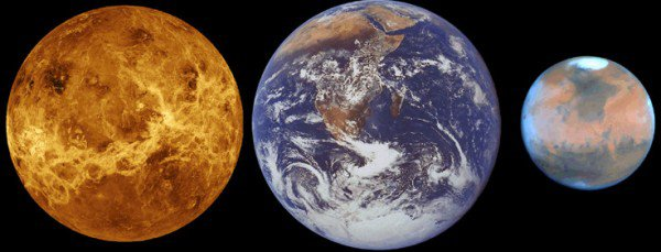 Just like Earth, Venus and Mars may once have been watery worlds.