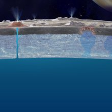 Artist's concept of Europa's ice shell.