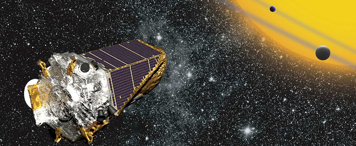 Artist impression of the Kepler Space Telescope.