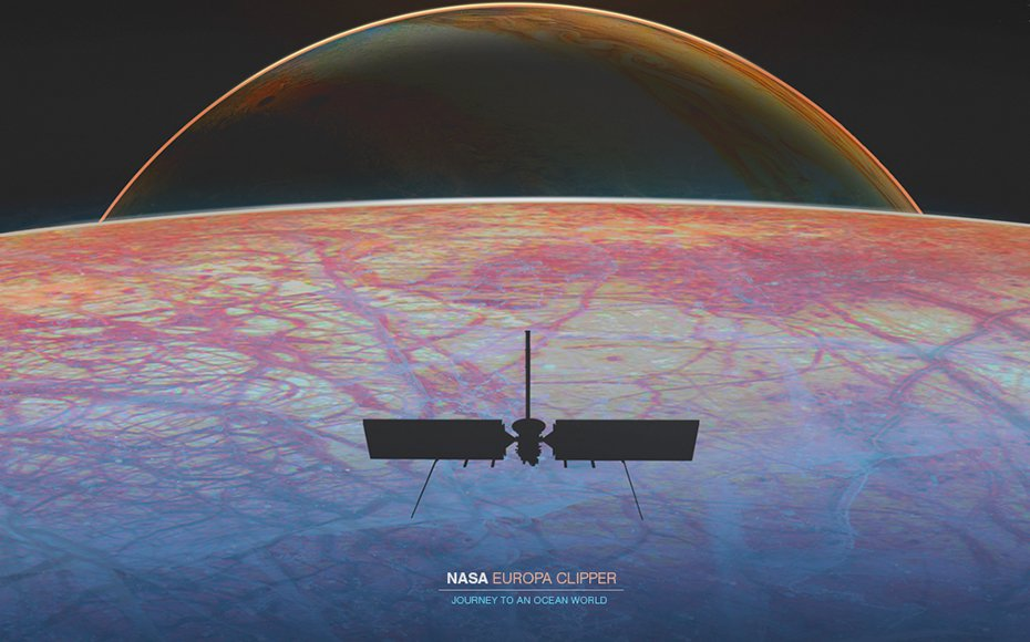 NASA's digital Europa Clipper poster is available at: https://europa.nasa.gov/resources/173/europa-clipper-journey-to-an-ocean-world-poster/